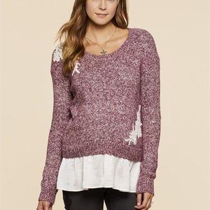 Jessica Simpson Sweaters - Jessica Simpson Embellished Maternity Sweater
